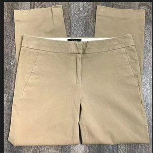 J CREW Campbell Capri Beige Tan Stretch Pants